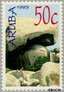 Aruba AR 119  1993 Rotsformaties 50 cent  Gestempeld