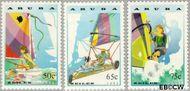 Aruba AR 125#127  1993 Zeilen  cent  Gestempeld