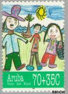 Aruba AR 169  1995 Kindertekeningen 70+35 cent  Gestempeld