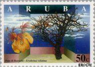 Aruba AR 200  1997 Bomen 50 cent  Gestempeld