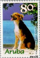 Aruba AR 230  1999 Honden 80 cent  Gestempeld
