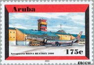 Aruba AR 280  2001 Luchthaven 175 cent  Gestempeld