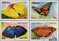 Aruba AR 302#305  2003 Vlinders  cent  Gestempeld