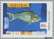 Aruba AR 320  2004 Vissen 40 cent  Gestempeld