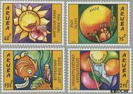Aruba AR 332#335  2005 Wenszegels  cent  Postfris