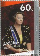 Aruba AR 339b  2005 Regeringsjubileum Koningin Beatrix 60 cent  Gestempeld