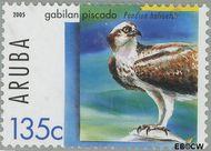 Aruba AR 345  2005 Roofvogels 135 cent  Gestempeld
