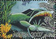 Aruba AR 380b  2007 Wrakken in het rif 300 cent  Gestempeld