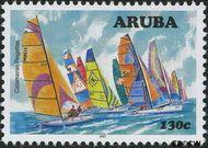 Aruba AR 387  2007 Catamaran regatta 130 cent  Gestempeld
