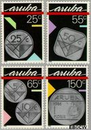 Aruba AR 40#43  1988 Munten  cent  Postfris
