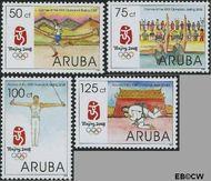 Aruba QR 397#399  2008 Olympische Spelen Beijing  cent  Gestempeld