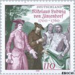 Bundesrepublik BRD 2115#  2000 Zinnendorf Nikolaus Ludwig Graf von  Postfris