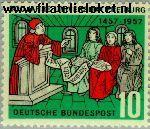 Bundesrepublik BRD 256#  1957 Universiteit Freiburg  Postfris