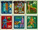 Bundesrepublik BRD 629#634  1970 Vrijwillige hulpdiensten  Postfris