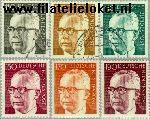 Bundesrepublik BRD 727#732  1972 Heinemann, Dr. Gustav  Postfris