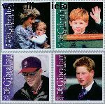 Gibraltar gib 1018#1021  2002 Prins Henry  Postfris