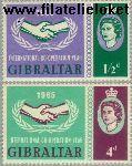 Gibraltar gib 171#172  1965 Int. Samenwerkingsjaar  Postfris