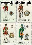 Gibraltar gib 237#240  1970 Militaire uniformen  Postfris