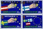 Gibraltar gib 706#709  1994 Toetreding E.E.G.  Postfris