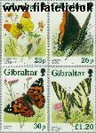 Gibraltar gib 793#796  1997 Vlinders  Postfris
