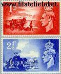 Groot-Brittannië grb 235#236  1948 Bevrijding Kanaaleilanden  Postfris