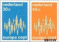 Nederland NL 1007#1008  1972 C.E.P.T.- Communicatie  cent  Gestempeld