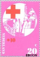 Nederland NL 1016  1972 Rode Kruis 20+10 cent  Gestempeld