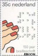 Nederland NL 1077  1975 Brailleschrift 35 cent  Gestempeld