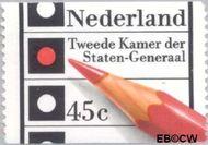 Nederland NL 1129a  1977 Verkiezingen Tweede Kamer 45 cent  Gestempeld