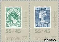 Nederland NL 1137-1138  1977 Postzegeltentoonstelling Amphilex '77  cent  Postfris