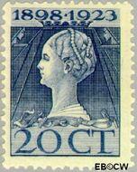 Nederland NL 125  1923 Koningin Wilhelmina- Regeringsjubileum 20 cent  Ongebruikt
