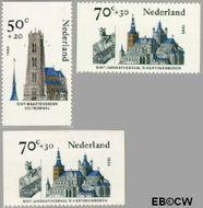 Nederland NL 1328a#1328c  1985 Kerken  cent  Gestempeld