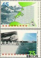 Nederland NL 1361#1362  1986 Voltooiing Deltawerken  cent  Gestempeld