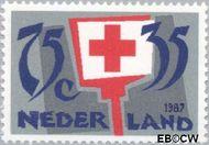 Nederland NL 1383  1987 Rode Kruis- Activiteiten 75+35 cent  Gestempeld