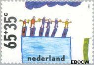 Nederland NL 1416  1988 Kindertekeningen 65+35 cent  Gestempeld