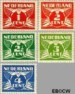 Nederland NL 144#148  1924 Vliegende Duif   cent  Ongebruikt