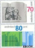 Nederland NL 1481#1482  1991 Bibliotheken  cent  Postfris