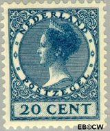 Nederland NL 156  1925 Koningin Wilhelmina- Type 'Veth' 20 cent  Gestempeld