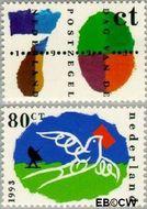 Nederland NL 1573#1574  1993 Post  cent  Gestempeld