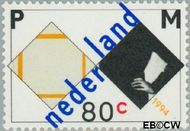 Nederland NL 1596  1994 Mondriaan, Piet 80 cent  Gestempeld