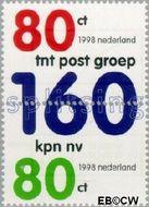 Nederland NL 1768#1769  1998 Splitsing tnt postgroep-kpn nv  cent  Gestempeld