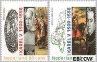 Nederland NL 1877a#1877b  2000 Keizer Karel V  cent  Gestempeld