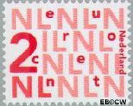Nederland NL 2034  2002 Bijplakzegels 2 cent  Gestempeld