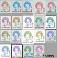 Nederland NL 2036#2043  2002 Koningin Beatrix  cent  Postfris