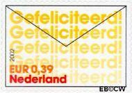 Nederland NL 2054  2002 Felicitatie- zegels 39 cent  Gestempeld