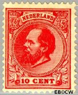 Nederland NL 21  1872 Koning Willem III- 5e emissie 10 cent  Gestempeld
