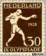 Nederland NL 219  1928 Olympische Spelen- Amsterdam 30+3 cent  Gestempeld