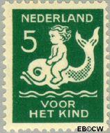 Nederland NL 226  1929 Kind op dolfijn 5+3 cent  Gestempeld
