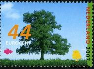 Nederland NL 2511  2007 Bomen in de zomer 44 cent  Gestempeld