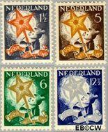 Nederland NL 261#264  1933 Drie-koningenfeest   cent  Gestempeld